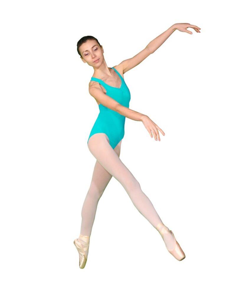 CARNATION Çapraz Sırt Detaylı Bale Dans Çalışma Mayosu